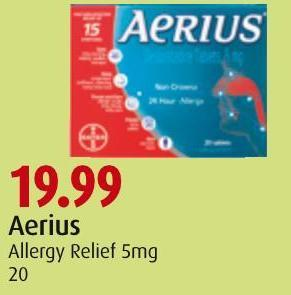 Aerius Allergy Relief 5mg 20