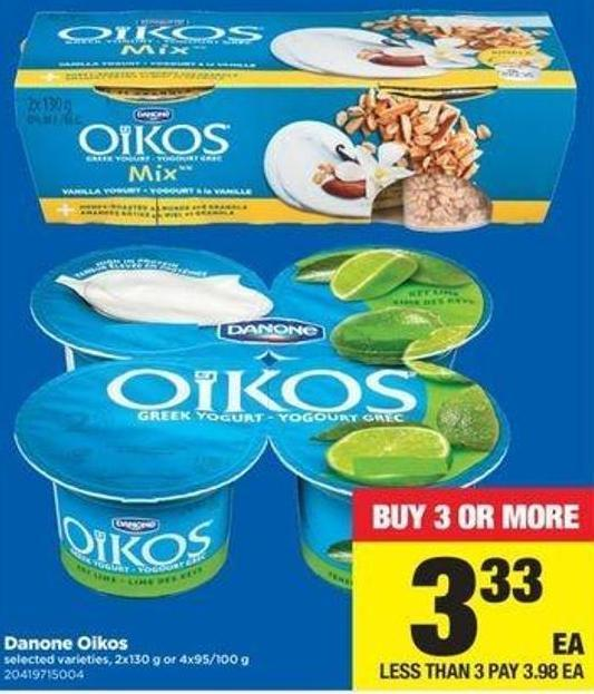 Danone Oikos - 2x130 G Or 4x95/100 G