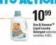 Arm & Hammer Liquid Laundry Detergent - 4.43 L