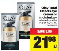 Olay Total Effects Eye Cream Or Moisturizer - 14 g or 40/50 mL