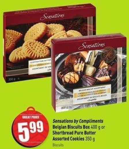 Sensations By Compliments Belgian Biscuits Box 400 g or Shortbread Pure Butter Assorted Cookies 350 g