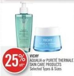 Vichy Aqualia or Pureté Thermale Skin Care Products