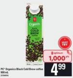 PC Organics Black Cold Brew Coffee - 900 Ml