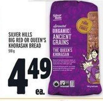Silver Hills Big Red Or Queen's Khorasan Bread