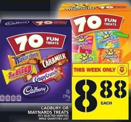 Cadbury Or Maynards Treats