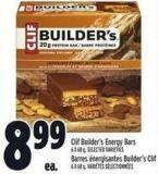 Clif Builder's Energy Bars 6 X 68 g