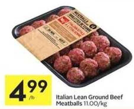 Italian Lean Ground Beef Meatballs