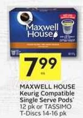 Maxwell House Keurig Compatible Single Serve