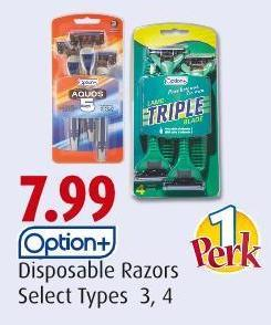 Option+ Disposable Razors