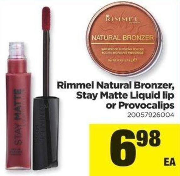 Rimmel Natural Bronzer - Stay Matte Liquid Lip Or Provocalips