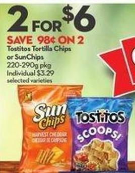Tostitos Tortilla Chips or Sunchips
