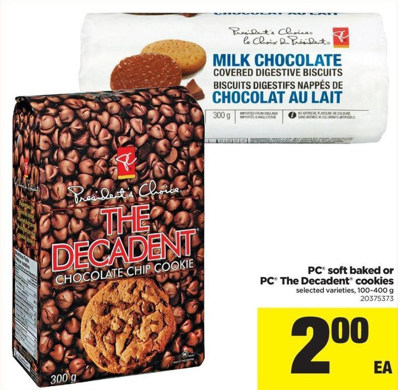 PC Soft Baked Or PC The Decadent Cookies - 100-400 G