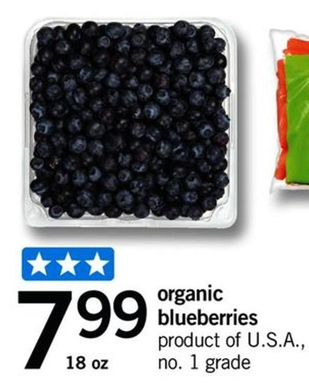 Organic Blueberries - 18 Oz