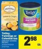 Tetley - Twinings Or Celestial Tea - 20/24's