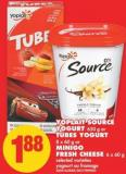 Yoplait Source Yogurt - 650 g Or Tubes Yogurt - 8 X 60 g Or Minigo Fresh Cheese - 6 X 60 Ga