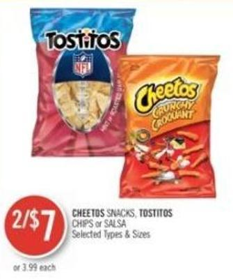 Cheetos Snacks - Tostitos Chips or Salsa