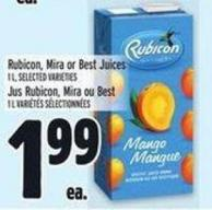 Rubicon - Mira Or Best Juices