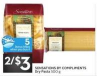 Sensations By Compliments Dry Pasta - 5 Air Miles Bonus Miles