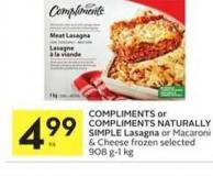 Compliments Or Compliments Naturally Simple Lasagna
