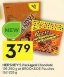Hershey's Packaged Chocolate 191-290 g or Brookside Pouches 167-235 g