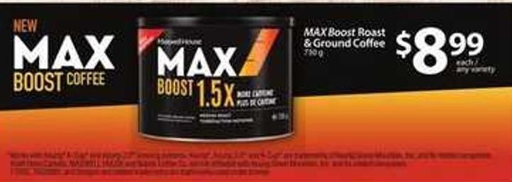 Max Boost Roast & Ground Coffee - 730 g