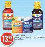 Vicks Dayquil.nyquil Liquid Capsules (24's-48') or Liquid (354 Ml)