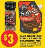 Club House One Step or La Grille Seasoning Mix - 120-248 g