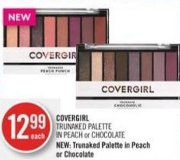 Covergirl Trunaked Palette In Peach or Chocolate