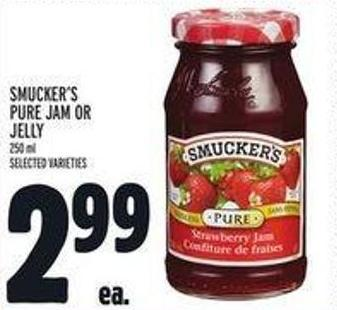 Smucker's Pure Jam Or Jelly