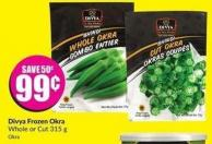 Divya Frozen Okra Whole or Cut 315 g