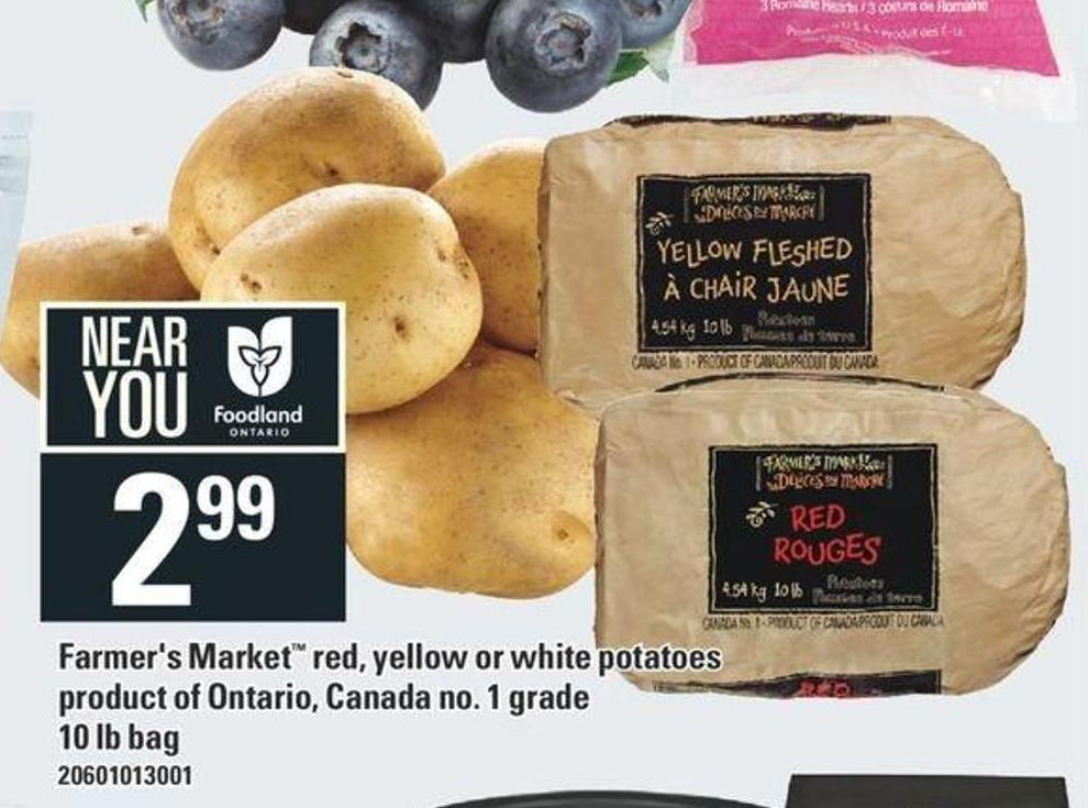 Farmer's Market Red - Yellow Or White Potatoes
