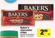 Baker's Chocolate Chips - 300 g