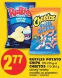 Ruffles Potato Chips - 190-220 g or Cheetos - 170-310 g