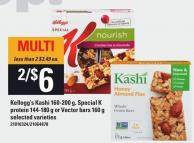 Kellogg's Kashi 160-200 G - Special K Protein 144-180 G Or Vector Bars 160 G