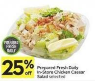 Prepared Fresh Daily In-store Chicken Caesar Salad Selected