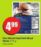 One World Halal Deli Sliced Meats 175 g