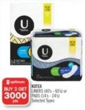 Kotex Liners (40's - 60's) or Pads (14's - 24's)
