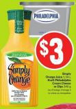 Simply Orange Juice 1.54 L Kraft Philadelphia Cream Cheese or Dips 340 g