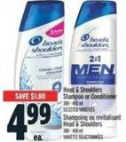 Head & Shoulders Shampoo or Conditioner - 380-400 mL
