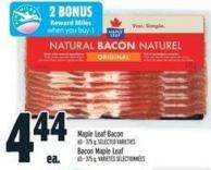 Maple Leaf Bacon.65/375 g