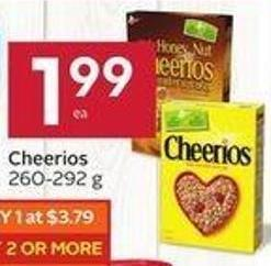 Cheerios 260-292 g - 40 Air Miles Bonus Miles