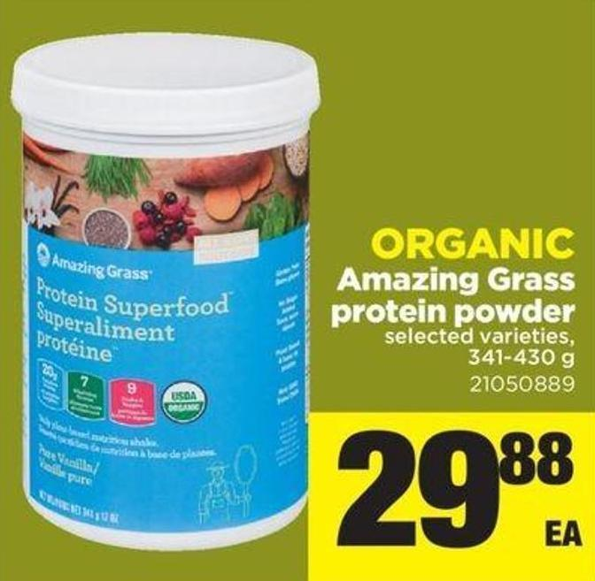 Organic Amazing Grass Protein Powder - 341-430 G