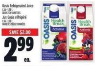 Oasis Refrigerated Juice 1.36 - 1.75 L