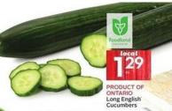 Product Of Ontario Cucumbers