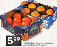 Vanilla Kaki or Sharoni Persimmons