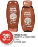 Whole Blends Shampoo or Conditioner 370ml