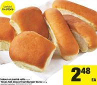 Kaiser Or Panini Rolls - 6's Or Texas Hot Dog Or Hamburger Buns - 520 G