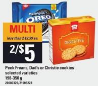 Peek Freans - Dad's Or Christie Cookies - 198-350 g