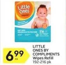 Little Ones By Compliments Wipes Refill