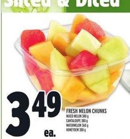 Fresh Melon Chunks